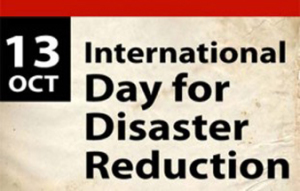 Int'l Day for Disaster Reduction today