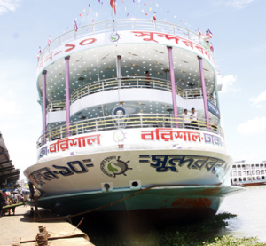 Four-storey launch on Dhaka-Barisal route