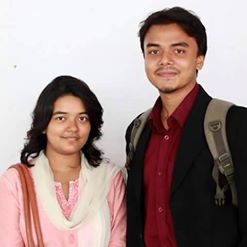 With her only elder brother Shajid Ul Hoque Khan Aabir