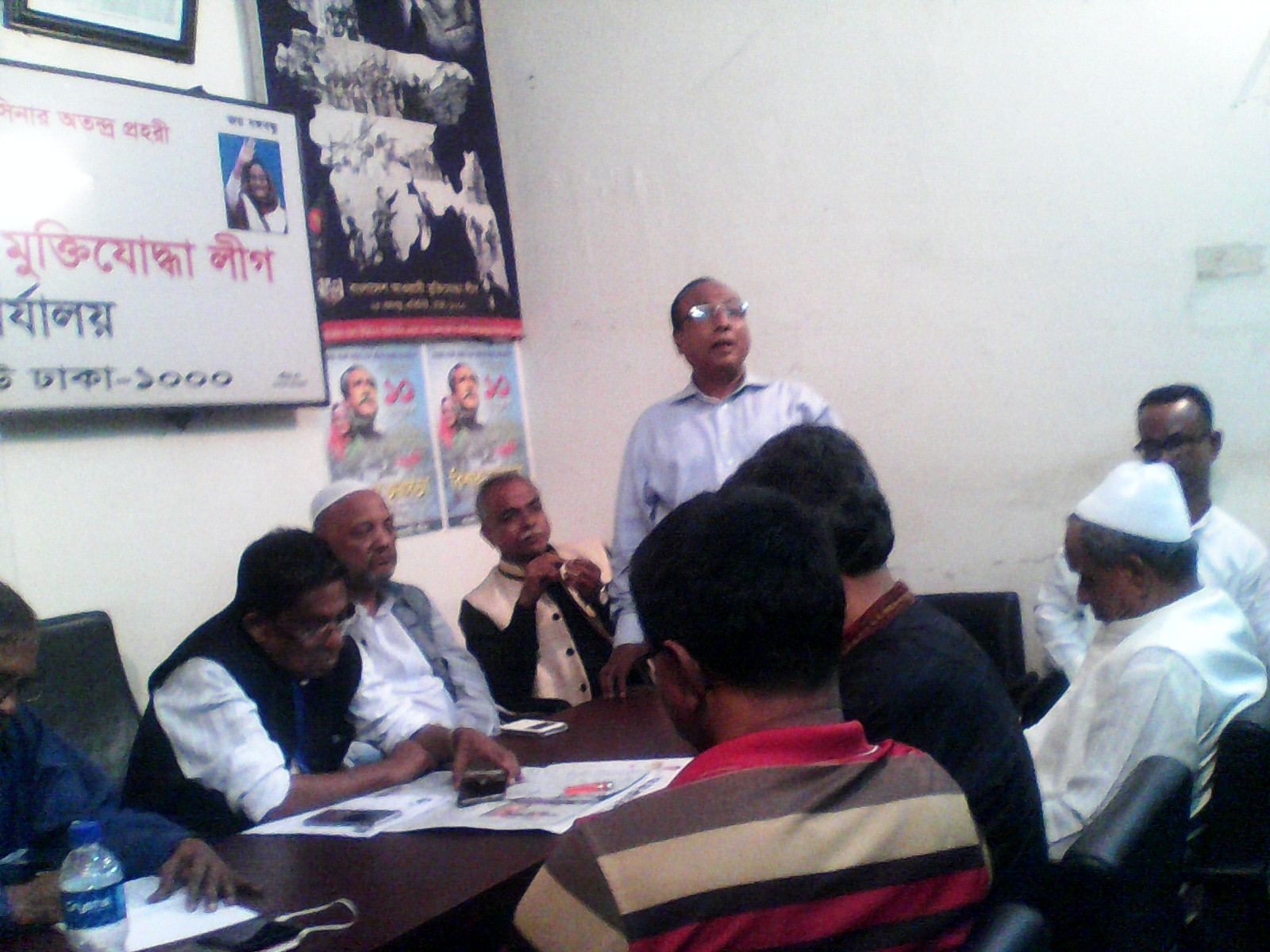 Ali Ahmed Chowdhury is seen to deliver his speech