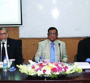 Dr. Zaid Bakth, Chairman, Board of Directors of Agrani Bank Limited, attended at a six week long foundation training course for the newly recruited Senior Officers at the Bank' Training Institute in the city recently. Md. Monowar Hossain, General Manager and Muhammad Ullah, DGM of the Bank were also present.