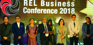 "Aktar Hussain, Chairman of Rangs Group of Companies, inaugurating its Annual Sales Meet – ""REL Business Conference 2018"" at an auditorium in the city recently. Hiromoto Daichi, Senior Manager. Market Development Division, Regional Market Development Center, Sony South East Asia; Alex Yee, Head of Bangladesh Branch Office of Sony International (S) Ltd.; from Rangs Group of Companies – Sachimi Hussain, Vice Chairman; J Ekram Hussain, Managing Director and Ms. Beanus Hussain, Director; other high officials, Area and Showroom In-Charges, Franchises, 350 Dealers from different parts of the country and other invited guests also joined there."