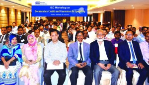 Md. Arfan Ali, Managing Director of Bank Asia Ltd. poses with the participants of the 5th EC and 1st General Meetings of SWIFT member and users group of Bangladesh at a hotel in the city on Wednesday. Kazi Masihur Rahman, CEO, Mercantile Bank Ltd, Md. Ahsan-uz Zaman, CEO, Midland Bank Ltd, AKM Saifuddin Ahmed, AMD, Jamuna Bank Ltd., Akhter Hossain, DMD of Shahjalal Islami Bank Ltd., MAK Azad, Head of Int'l Division of ICB Islamic Bank Ltd, and Md Akmal Hossain, SVP of Social Islami Bank Ltd among others were attended.