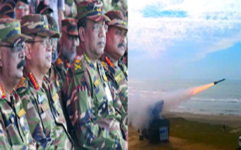 Army test-fires anti-aircraft missile