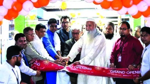 Syed Asaduzzaman, Managing Director of Best Electronics (global brand electronics retailer), inaugurating its 10 more new showrooms at a time across the country recently. Syed Tahmid Zaman Rashik, Director (Marketing) and Syed Ashhab Zaman Rafid Director (Sales) of the company were also present.