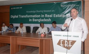 Digital transformation in Real Estate Sector in Bangladesh BProperty.com Limited's CEO meets with ERF journalists