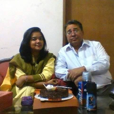 Moumita with her father Enamul Haq Khan Enu