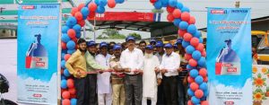 Firoz Kabir, GM (Sales and Marketing) of Runner Motors Limited and Tariqul Islam, Proprietor of General Motors, inaugurating a service center at Kalampur in Dhamrai. Ahmed Tanvir, Sr Manger of Services Coordination Division of the company was also present.