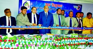 Syed Waseque Md Ali, Managing Director of First Security Islami Bank Limited, inaugurating its Rangamati Branch on Tuesday. Syed Habib Hasnat, Additional Managing Director, Md. Mustafa Khair, DMD, SM Nazrul Islam, Head of General Services Division, Md. Wahidur Rahman, Chittagong Zonal Head of the bank and local elites were present.