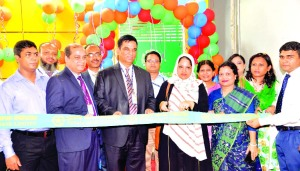 Md. Abdul Halim Chowdhury, Managing Director of Pubali Bank Limited, inaugurated a ATM Booth at Ghorashal, Narsingdi recently. Mohammad Ali, Deputy Managing Director and AKM Muzammel Hoque, DGM of the bank were present among others.