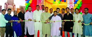 Elias Sarker, Managing Director of Brothers' Furniture Limited, inaugurating its new showroom at Narayanganj recently. Sharifuzzaman Sarker, Director, Mohammad Monirul Islam Bokshi, Head of Marketing and Sales, senior officials of the company and local elites were also present.
