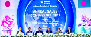 Abdur Razzaq, Managing Director of NIPRO JMI Pharma, presiding over the company's Annual Sales Conference 2019 at Bangabandhu International Conference Center (BICC) in the capital on Thursday. The company's Chairman Jabed Iqbal Pathan, CEO Md Mizanur Rahman and about 1600 marketing forces attended this conference.