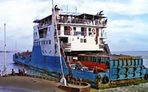 Shimulia-Kathalbari Ferry service halts for poor navigability