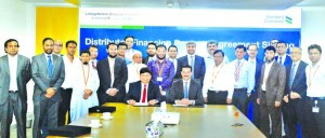 "Rajesh K Surana, CEO of LafargeHolcim Bangladesh Limited and Abrar A. Anwar, CEO of Standard Chartered Bank Bangladesh, inks a deal for \'Distributor Financing"" to enhance its business capacity recently. Five distributors of LafargeHolcim Bangladesh Limi"