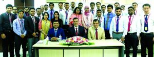 "Md Motaleb Hossain, Deputy Managing Director of Standard Bank Ltd, inaugurating a two day-long workshop on ""Analysis of Financial Statements for Credit Appraisal"" for SBL Credit Officers at its Training Institute in the city on Tuesday. CFO Ali Reza and Faculty Member Md Amzad Hossain Fakir, among others, were present."