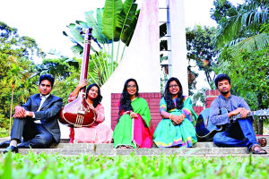 Moumita Hoque Shenjutee and four others become Champions in Inter University Cultural Competition