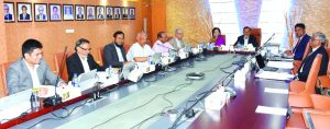 Md. Nurun Newaz Salim, Chairman of NCC Bank Limited, presiding over the Board of Directors meeting at its head office in the city on Tuesday. Mosleh Uddin Ahmed, Managing Director, Sohela Hossain, Vice-Chairman, SM Abu Mohsin, EC Chairman, Yakub Ali Montu, Risk Management Committee Chairman, Md. Amirul Islam FCA, Audit Committee Chairman, Khairul Alam Chaklader, Amjadul Ferdous Chowdhury, K A M Haroon and Mohammed Sazzad Un Newaz, Director's of the Bank were also present.