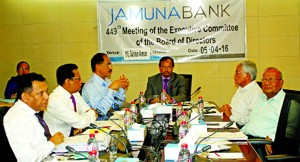 Nur Mohammed, Chairman, Executive Committee of Jamuna Bank Limited and Chairman, Jamuna Bank Foundation presid over the 449th EC Meeting. Managing Director Shafiqul Alam was also present among others.