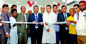 Md. Monzur Mofiz, AMD of ONE Bank Limited, inaugurating its Banking Booth at Basundia crossing at Jashore sadar recently. High officials of the bank, Rezaul Islam Khan Russel, local Union Parishad Chairman and elites were also present.