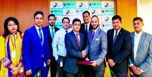 Md. Kamruzzaman, Head of Retail Banking of ONE Bank Limited and Ahmad Raquib, Deputy General Manager (Branding) of Sarah Resort Ltd, sign a MoU recently. Under the agreement, the Employees and cardholders of the Bank will enjoy 25pc discount on room rent on Saturday to Thursday and 15pc discount on Friday and govt. holidays and other exclusive benefits at the Resort in Gazipur.