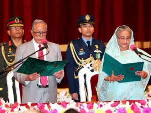 Sheikh Hasina takes oath as PM for 4th term, forms 47-member council of ministers