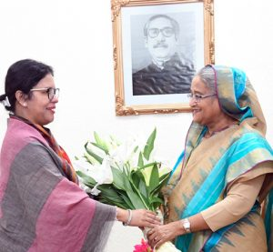 BGMEA leader Rubana Huq calls on PM