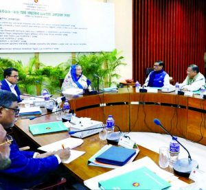 Prime Minister Sheikh Hasina chairs the ECNEC meeting at NEC conference room at Sher-e-Bangla Nagar in Dhaka on Tuesday.