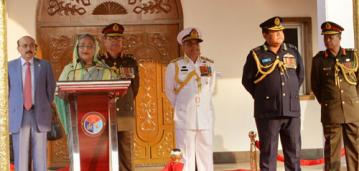 PM urges armed forces to stand by people for uplift