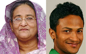 "PM describes Shakib as ""wonder"" of cricket world"