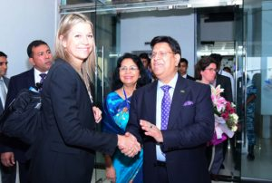 Queen Maxima in city