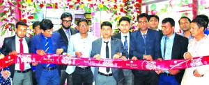 RN Paul, Managing Director of RFL Group, inaugurating its new outlet at Shibpur in Narsingdi recently. Rahat Zahan Shamim, In-charge, Atikur Rahman, Head of Sales, Mehedee Hasan, Senior Brand Manager of the company and local elites were also present.