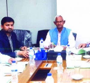Md. Rezaul Karim, Chairman, Board of Director's of Shipper's Council of Bangladesh, presiding over its meeting at its head office in the city on Sunday, while Ariful Ahsan, Senior Vice Chairman, Arzu Rahman, Afsar Uddin Ahmed, A K M Aminul Mannan (Khokon), Syed Md. Bakhtiar and Ziaul Islam, Directors of the organization were also present.