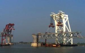 2nd span installation on Padma Bridge today