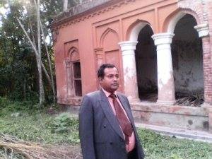 In front of the ancestral home ( oldest one) of Bangabandhu