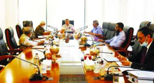 SM Bakhtiar Alam, Chairman, Board of Directors of Islamic Finance and Investment Limited (IFIL), presiding over the 291st board of directors meeting at its head office in the capital on Sunday. Abul Quasem Haider, Vice-chairman, Kaiser A Chowdhury, Audit Committee Chairman, Mostanser Billa, AKM Sakhawat, Directors, Md. Jahidur Rahman, Independent Director and Maruf Mansur, Managing Director (CC) of the company were present.
