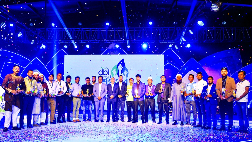 M A Quader, DMD of DBL Group poses for photo session with the participants of the DBL Ceramics Business Conference 2021 at a resort in Gazipur recently. Md. Bayazed Bashar, General Manager, M Abu Hasib Ron, Head of Sales and other top officials of DBL Ceramics were present.