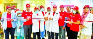 Dr. Mahbub Uddin Ahmed, Director (Medical Services) of United Hospital Limited, inaugurating the health check booth marking the 'World Heart Day-2021' at hospital lobby in the capital on Wednesday. More than 500 patients and their family members availed free checkup throughout the day. Senior doctors, consultants and executives of the hospital were present.