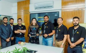 Actress Bidya Sinha Mim signed an agreement as the Brand Ambassador of e-commerce company 'Let's GO Mart' at its head office in the capital recently. Major (Retd.) Md. Rabiul Alam, Chairman, Golam Mostofa, Managing Director and Directors of the company were present.